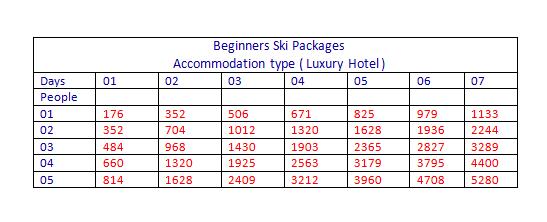 Beginners Ski Package